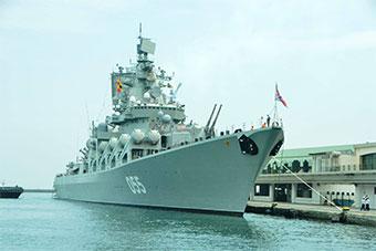 俄055舰进入地中海 访问阿尔及利亚