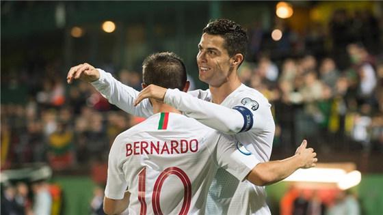 欧锦赛预选赛:葡萄牙5-1立陶宛