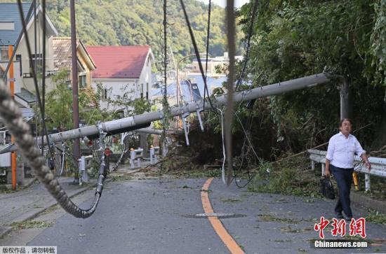 日本千叶县因台风大面积停电 约16万家庭仍受影响