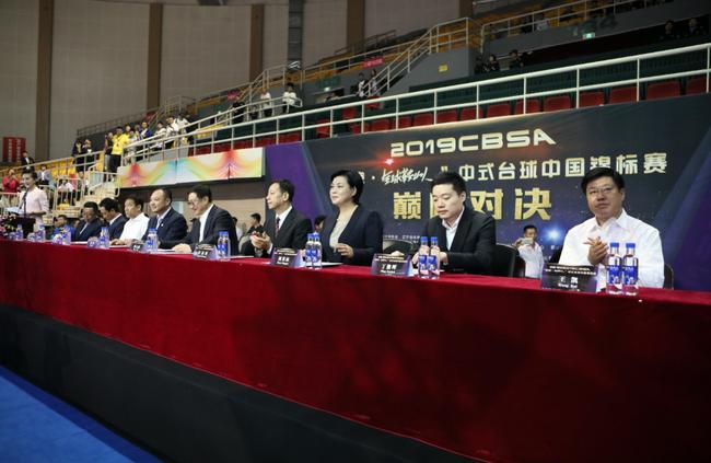 中式台球中国锦标赛鞍山揭幕 丁俊晖为比赛开杆