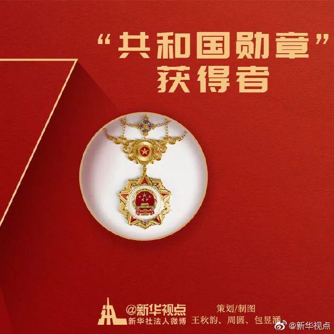 一文全览国家勋章和国家荣誉称号获得者