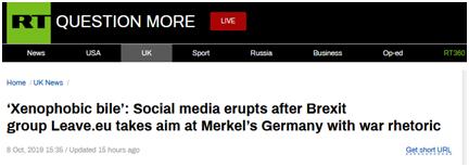 """<b>默克尔给脱欧谈判""""泼冷水"""",英 """"脱欧派""""组织以""""德国佬""""回怼</b>"""