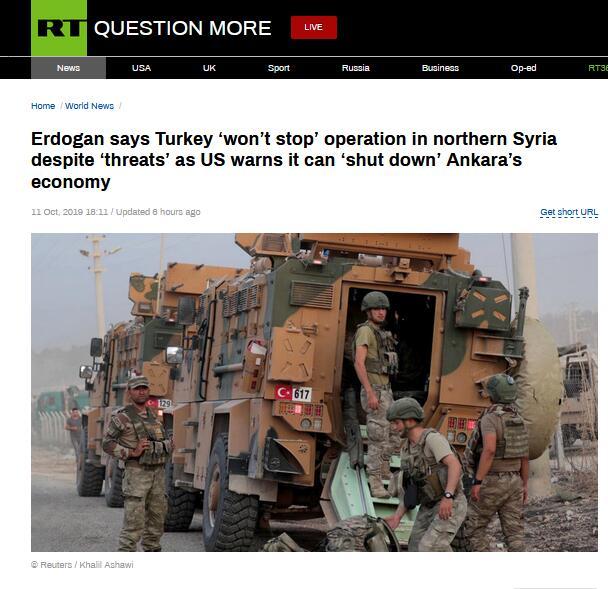 """<b>美国发出""""经济制裁""""警告,埃尔多安:我们不会停下脚步</b>"""