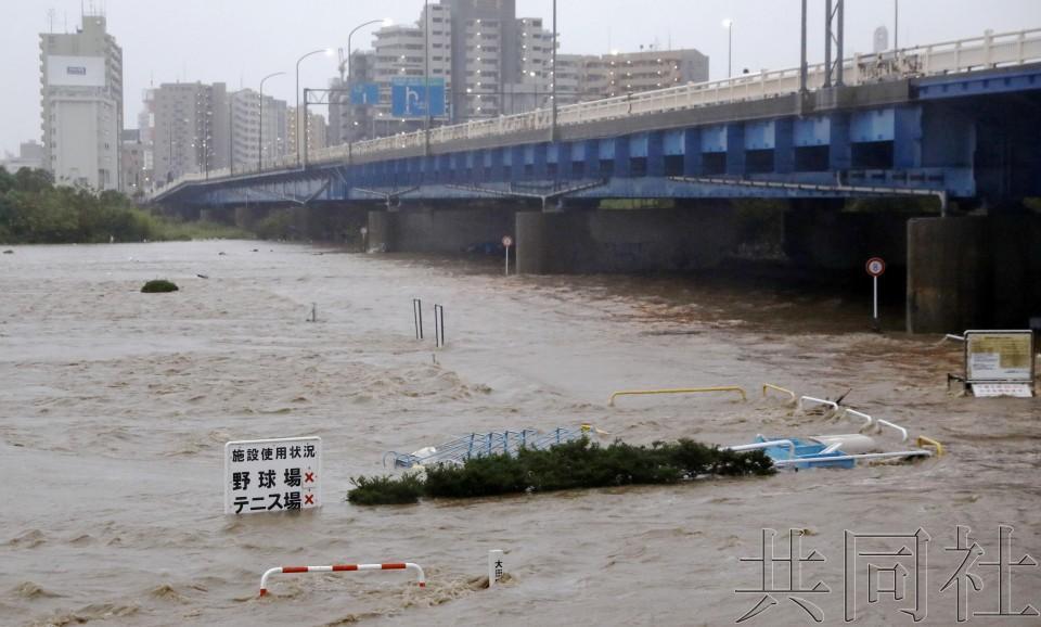 """26人遇难!台风""""海贝思""""重创日本 新干线被淹或整车报废"""