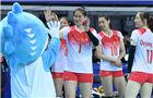 军运会女排小组赛:中国队3-0胜巴西队