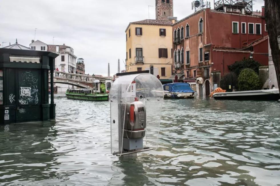 """""""水城""""威尼斯因暴雨引发洪水被淹  热门景点变成了这样"""