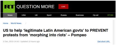 """美国站在所谓""""道德制高点""""上继续插手拉美事务,俄媒痛批蓬佩奥""""双标""""!"""