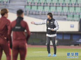 东亚杯:中国国家男子足球选拔队备战