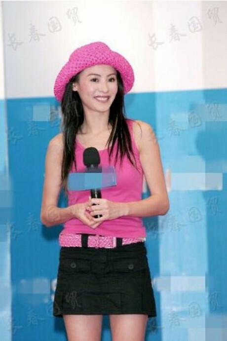张柏芝15年前旧照曝光 长发披肩少女感十足