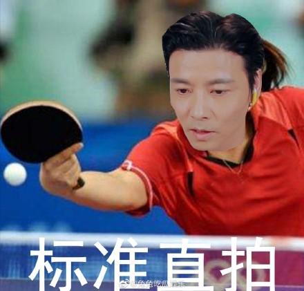 张晋以为直拍是乒乓球拍 网友笑岔制表情包