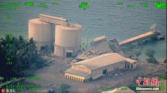 航拍印尼地震海啸受灾区域。图片来源:东方IC 版权作品 请勿转载