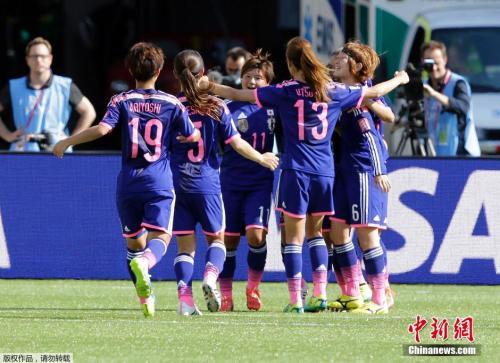 资料图:2015年世界杯日本女足庆祝胜利。