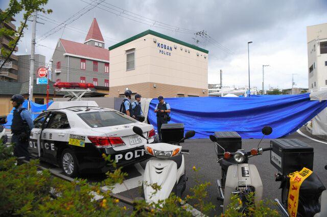 事故现场照片。(图片来源:日本朝日新闻)