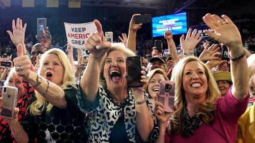 特朗普竞选集会现场。图源:北卡罗来纳州