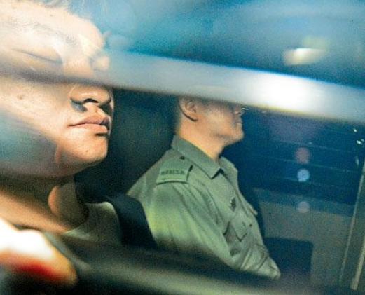 陈同佳被关押在香港监狱(港媒截图)