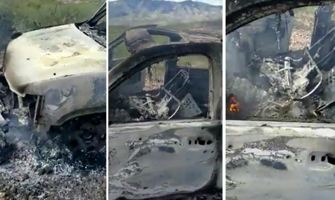 其中一辆遭到损毁的汽车(《洛杉矶时报》)