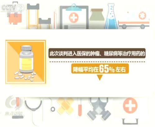 根据医保局公布的数字,此次谈判进入医保的肿瘤、糖尿病等治疗用药的降幅平均在65%左右。