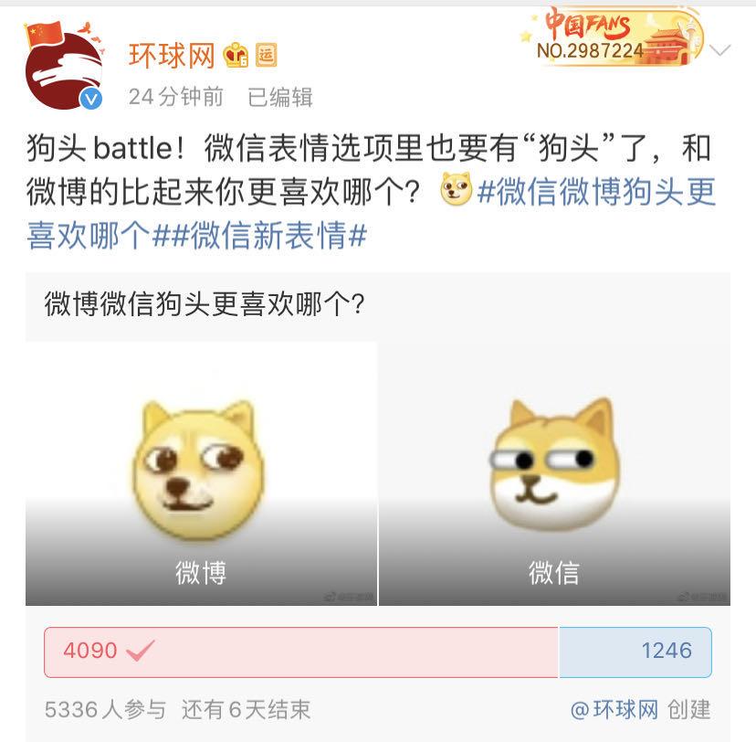 """微博上的斜眼黄狗表情_刚刚,微信上线新表情上热搜第一,网友:终于有""""狗""""了"""