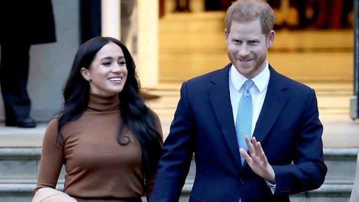 哈里与妻子梅根(图:BBC)